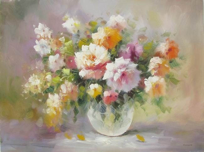 Купить картину маслом с цветами - натюрморты с фруктами ... Натюрморты Маслом Для Кухни
