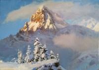Гора Эрцог - пейзаж маслом