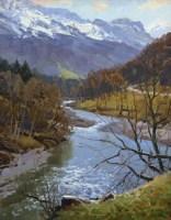 Полуденный блеск воды - живописный пейзаж