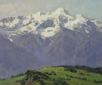 Вид с Роза плато.- горный пейзаж