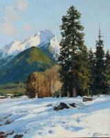 Зима в Архызе.- горный пейзаж