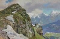 Роза Пик, Сочи Адлер - горный пейзаж - картина художника