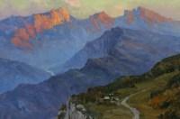 Кавказский хребет - картина художника маслом