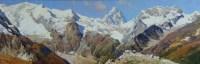 На Алибекской поляне - картина горный пейзаж