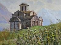 Сентинский храм в Тебердинском ущелье - картина