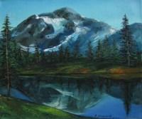 В горах - пейзаж маслом художника малышева