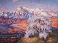 Картина маслом горный пейзаж