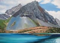 Фанские горы - картина маслом на холсте
